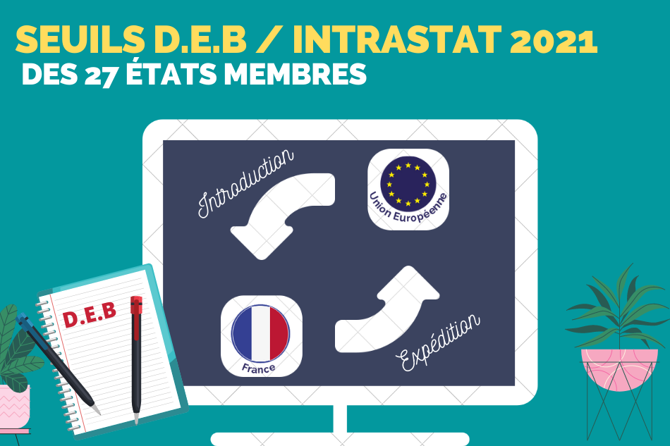 Seuils DEB 2021 & seuils Intrastat dans chacun des 27 pays de l'UE