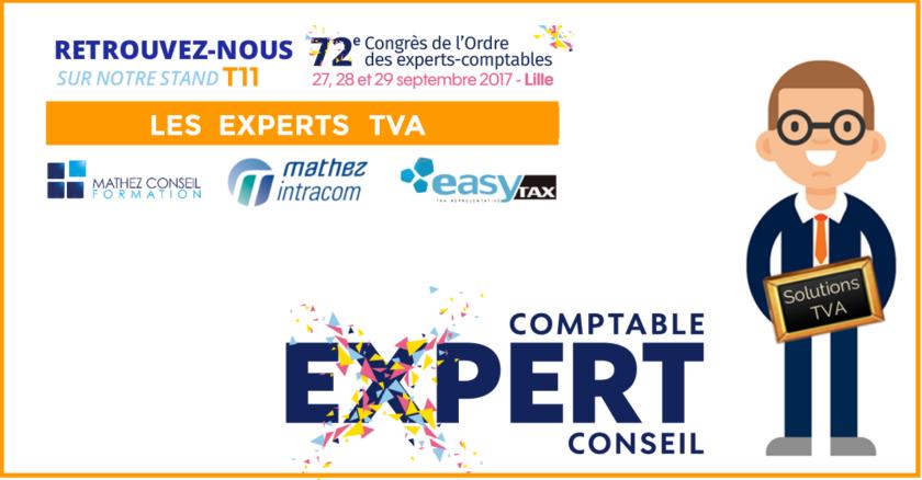 72ème Congrès de l'Ordre des Experts-Comptables: vos solutions TVA