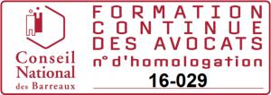 Formation homologuée par le Conseil National des Barreaux (Avocats)