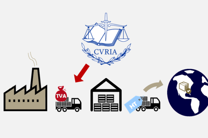 cjue exonération transports exportation hors UE