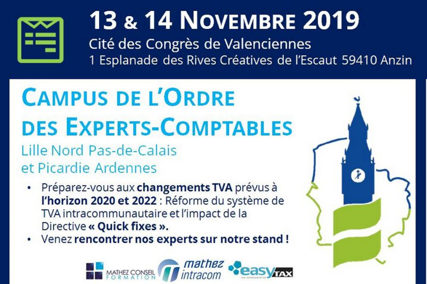 Congrès Régional de l'Ordre des Experts-Comptables Nord Pas-de-Calais et Picardie Ardennes
